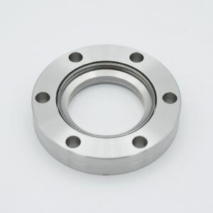 "UHV Viewport, UV Grade Fused Silica, Zero Length Profile, 1.40"" View Dia, 2.75"" Conflat Flange"