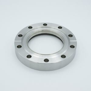 "UHV Viewport, DUV Grade (Laser) Fused Silica, Zero Length Profile, 2.69"" View Dia, 4.62"" Conflat Flange"
