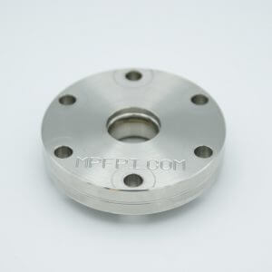 "MPF - A12819-1: UV Grade Sapphire Viewport, Over-Pressure, 0.75"" View Dia, 2.75"" Conflat Flange"